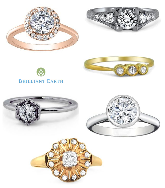 brilliant earth vintage rings