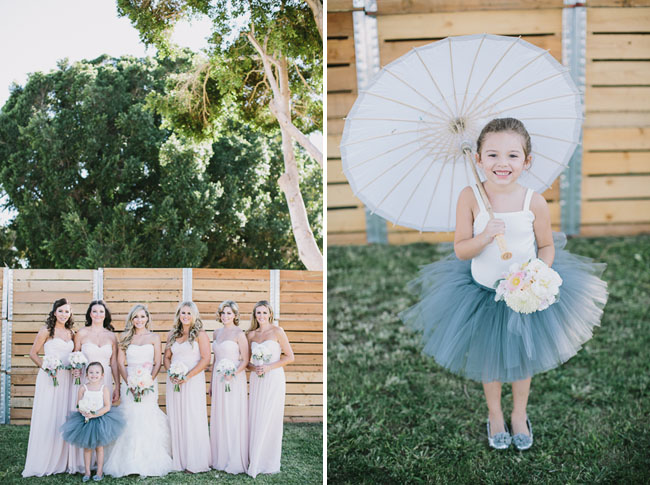 flower girl in a tulle skirt