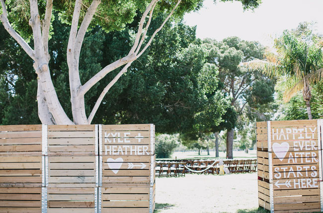 wooden ceremony wall