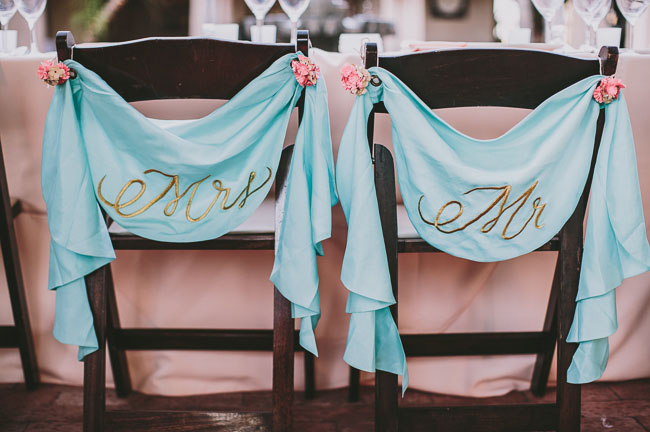 mr mrs chair decor