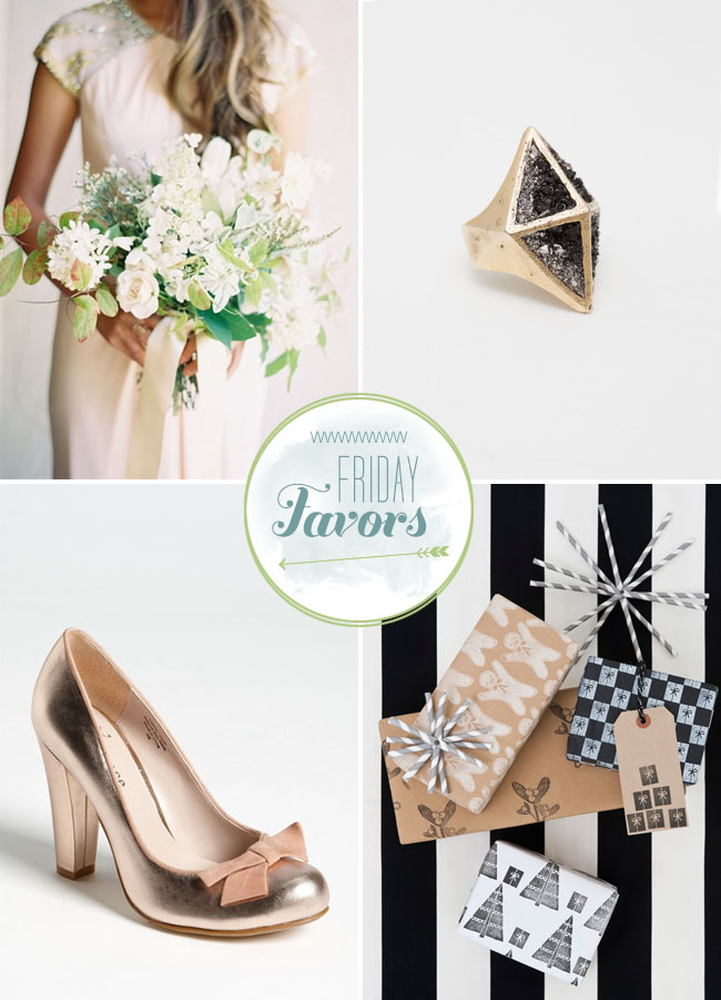 friday favors blush and black