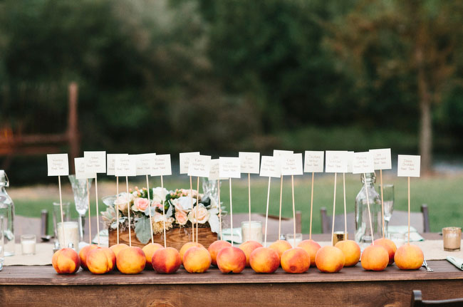 peach place cards