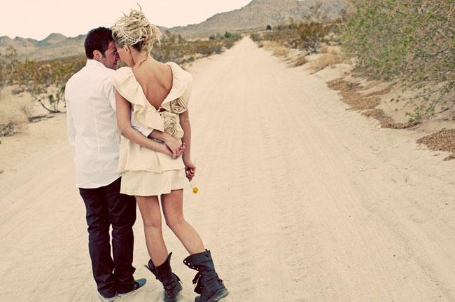 combat boots bride