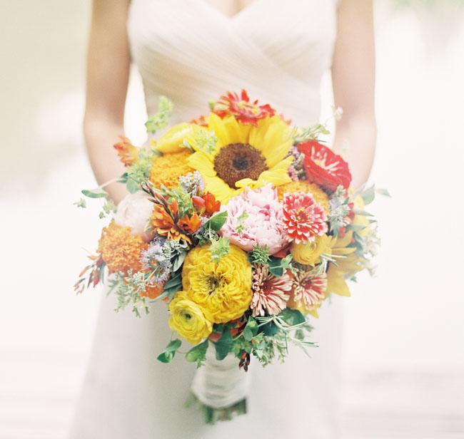 Colorful Paper Flower Wedding: Caitlyn + Joe