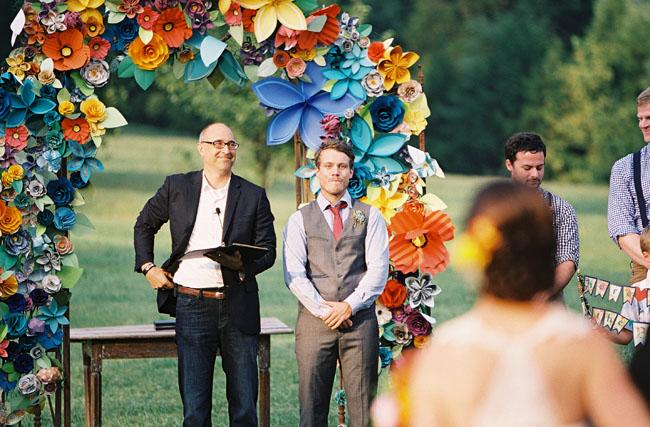 Colorful paper flower wedding caitlyn joe paper flower wedding mightylinksfo