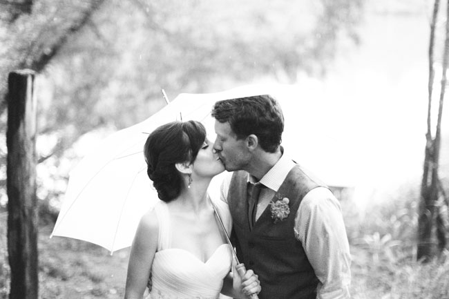 bride and groom black and white portrait