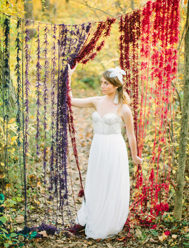 yarn knotted backdrop
