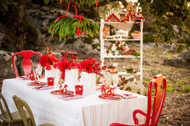 poinsettia centerpieces