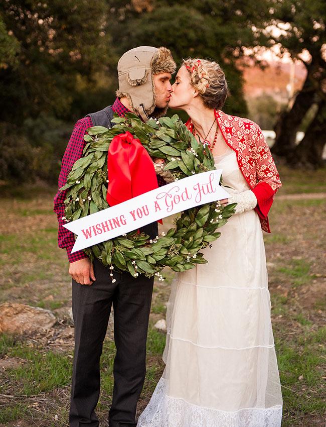 Swedish Christmas Wedding Inspiration Green Wedding