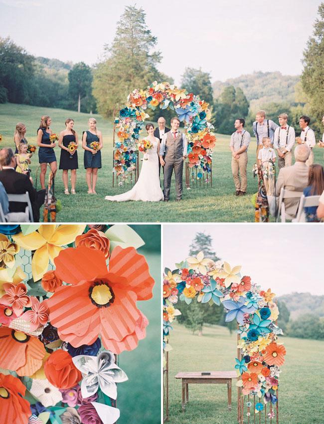 paper flower altar
