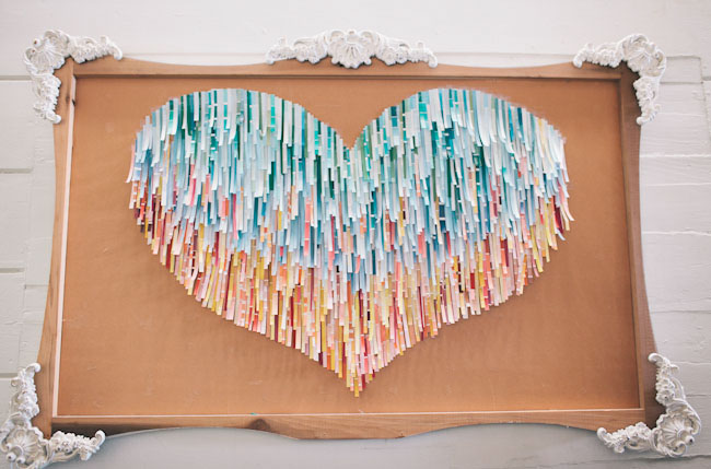 paint chip paper heart