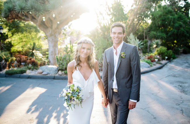 A Boho Garden Wedding in San Diego: Kelly + Tim - Green Wedding Shoes