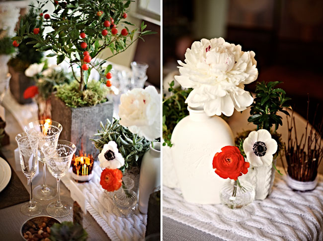 anemone table flowers