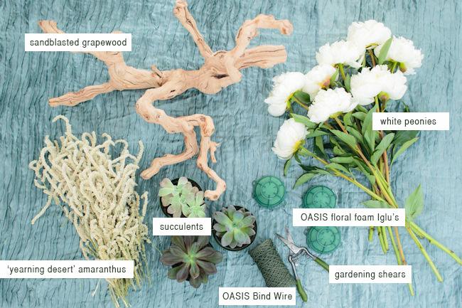 DIY_Floral_grapewood_materials