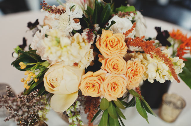 gold and black centerpiece