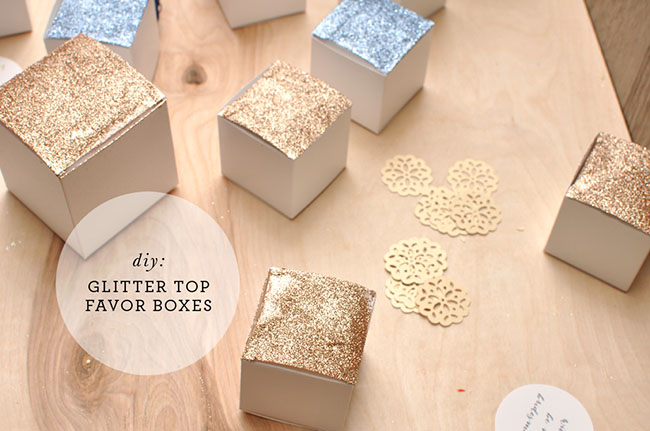 DIY Glitter Top Favor Boxes