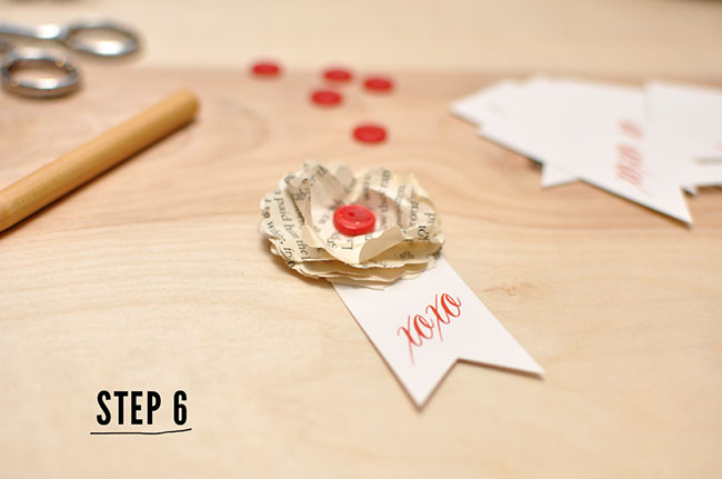DIY Paper Flower Step 6