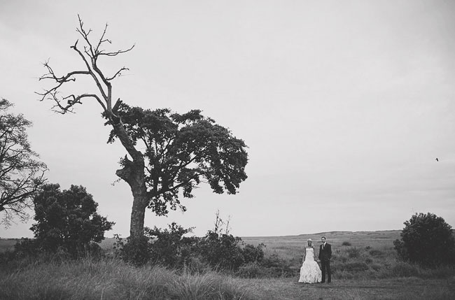 bride and groom in africa