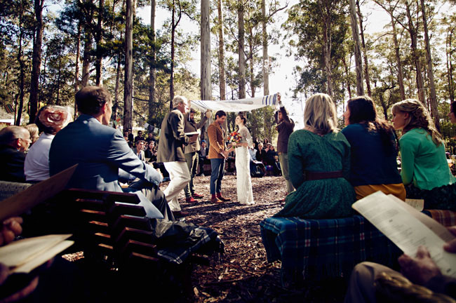 woodsy ceremony
