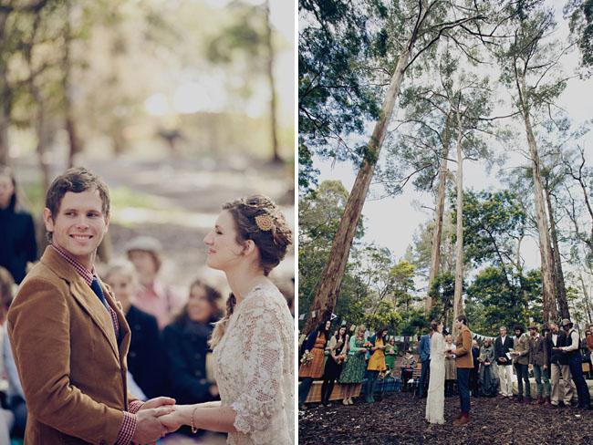 woodsy ceremony