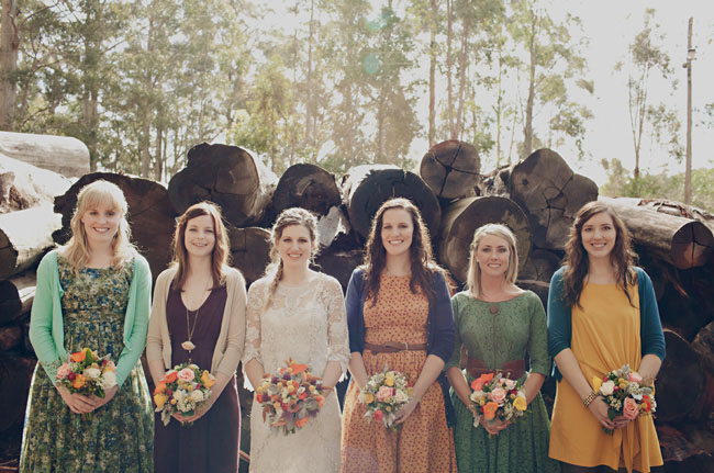 Rustic australian wedding in donnelly river rae shane for Casual mountain wedding dresses