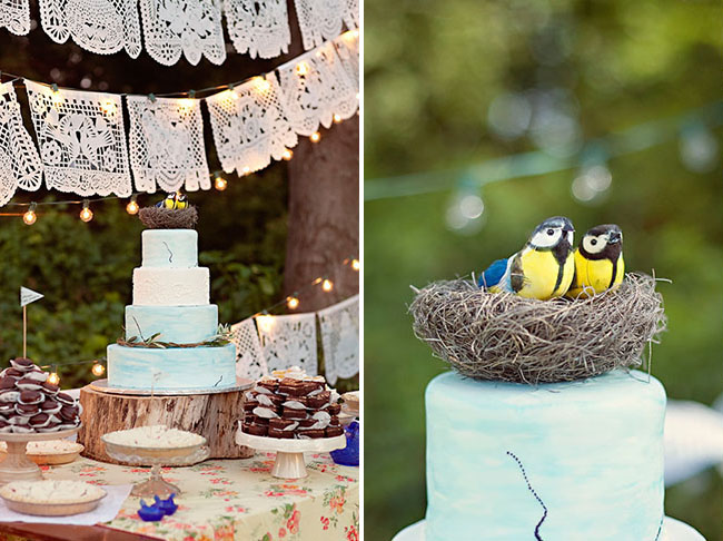 bird nest cake topper