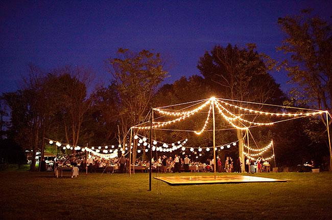 string lights reception