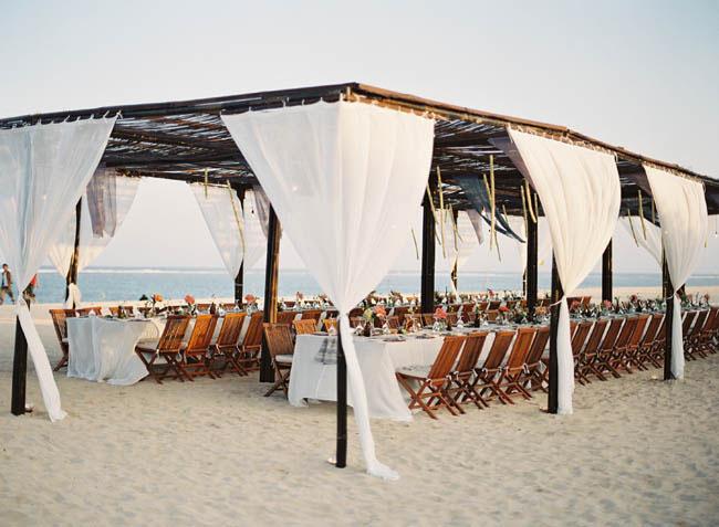 tropical beach tent