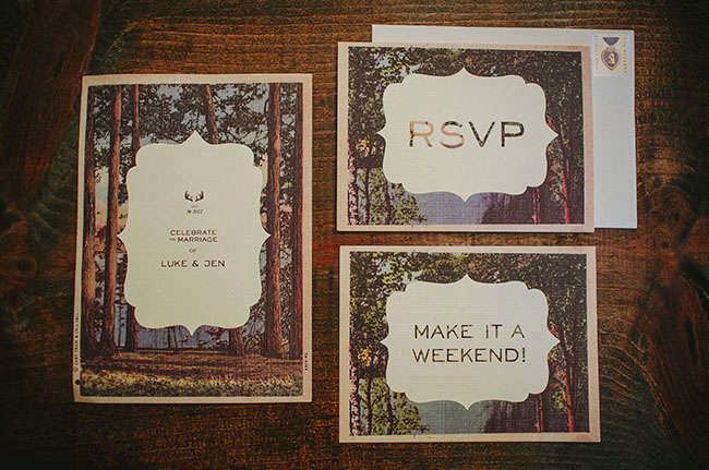 wooded invitation