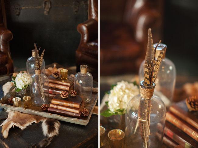 feather vases