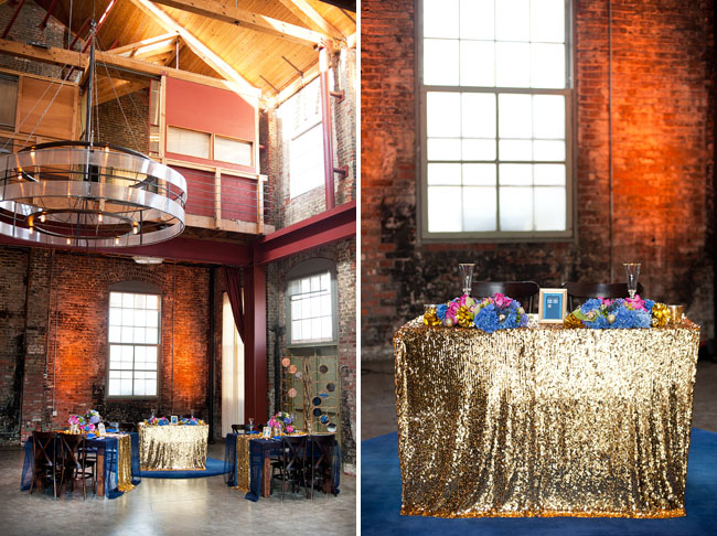 gold sequined table cloth