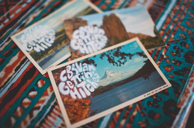 postcard wedding invite
