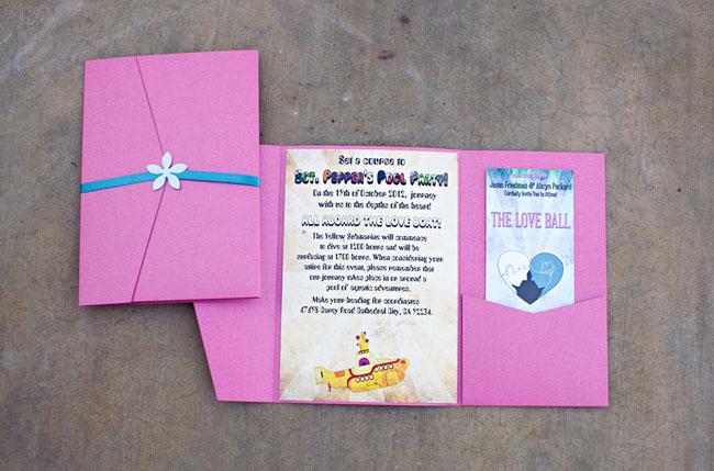love ball wedding invitation