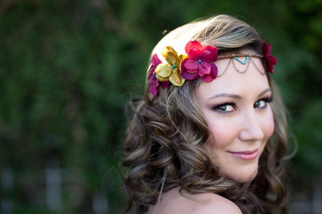 flower jeweled crown
