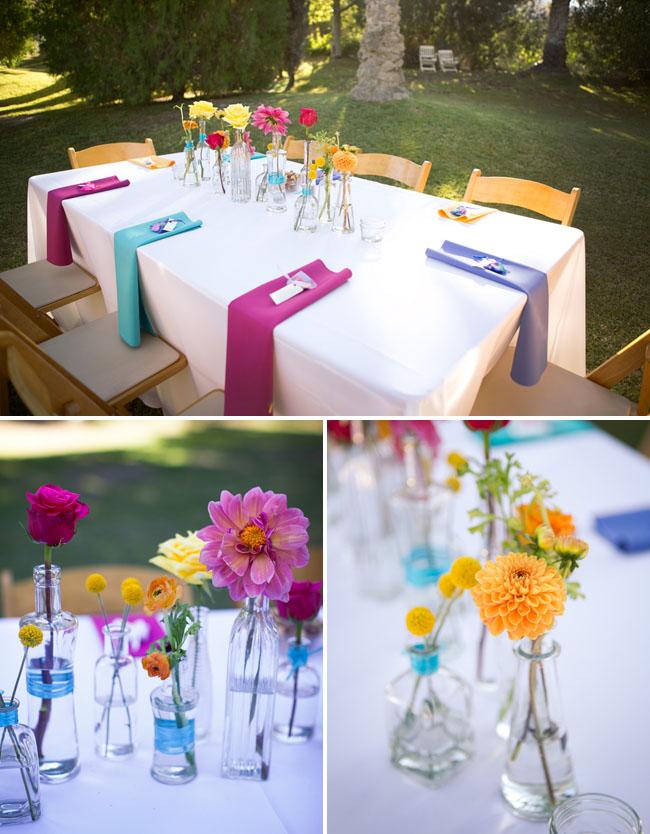 rainbow tablescape