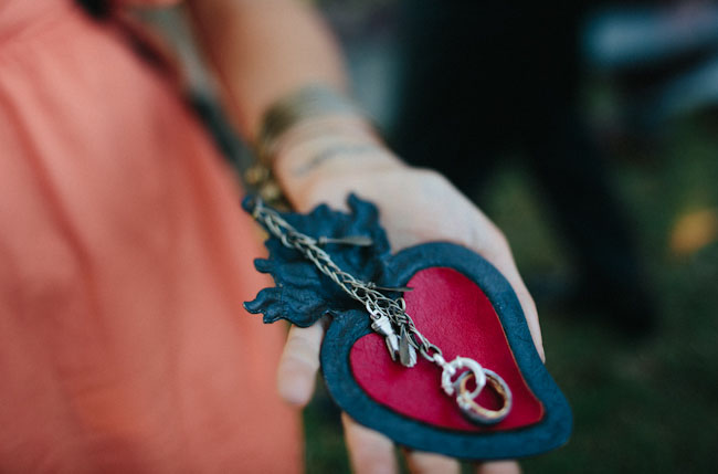 heart ring chain