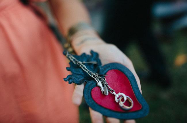 heart ring chain