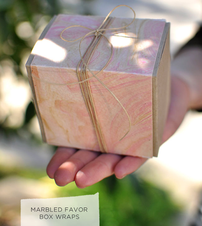 Marbled Paper Favors