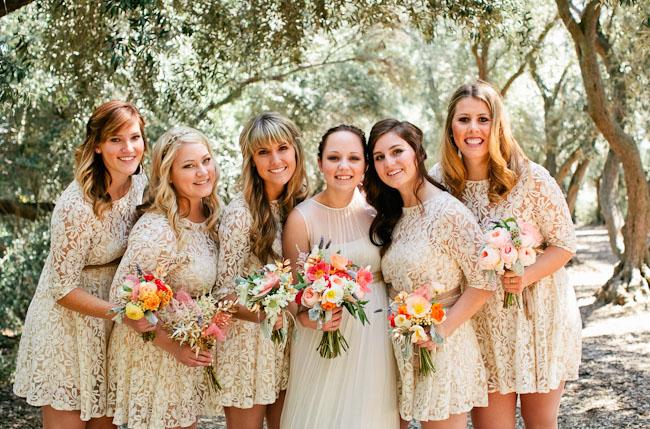 lace bridsmaids dresses
