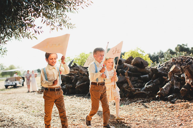 ring bearers and signs