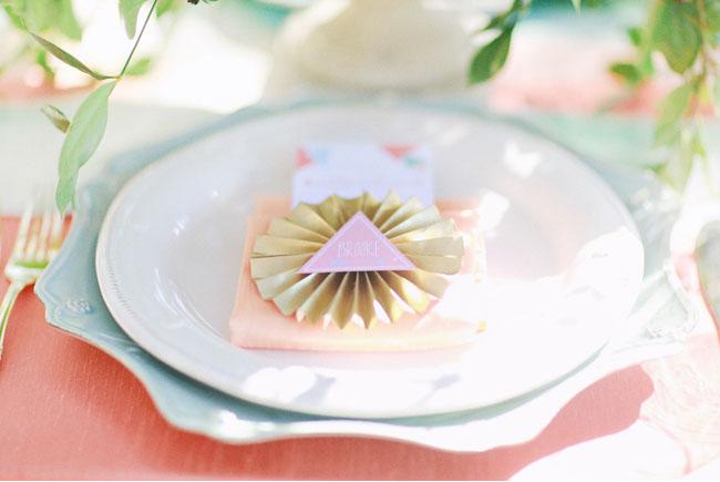 pinwheel place card