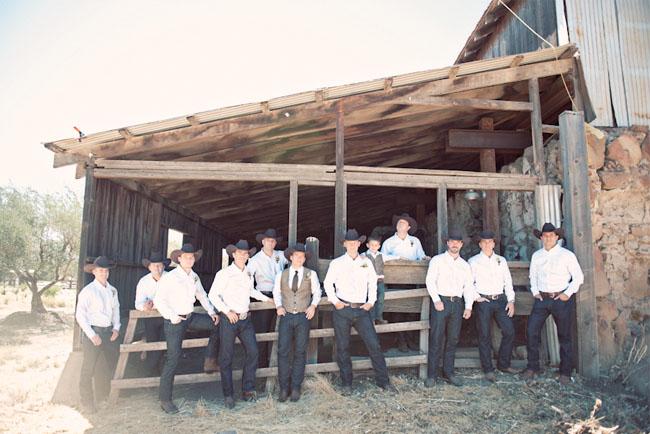 cowboy groomsmen