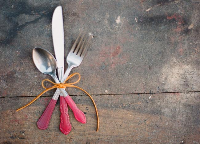 red dipper silverware
