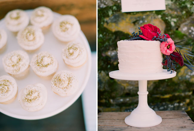 gold topped cupcakes