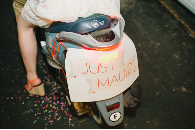 just married scooter