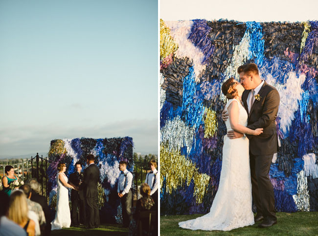 colored paper shred backdrop