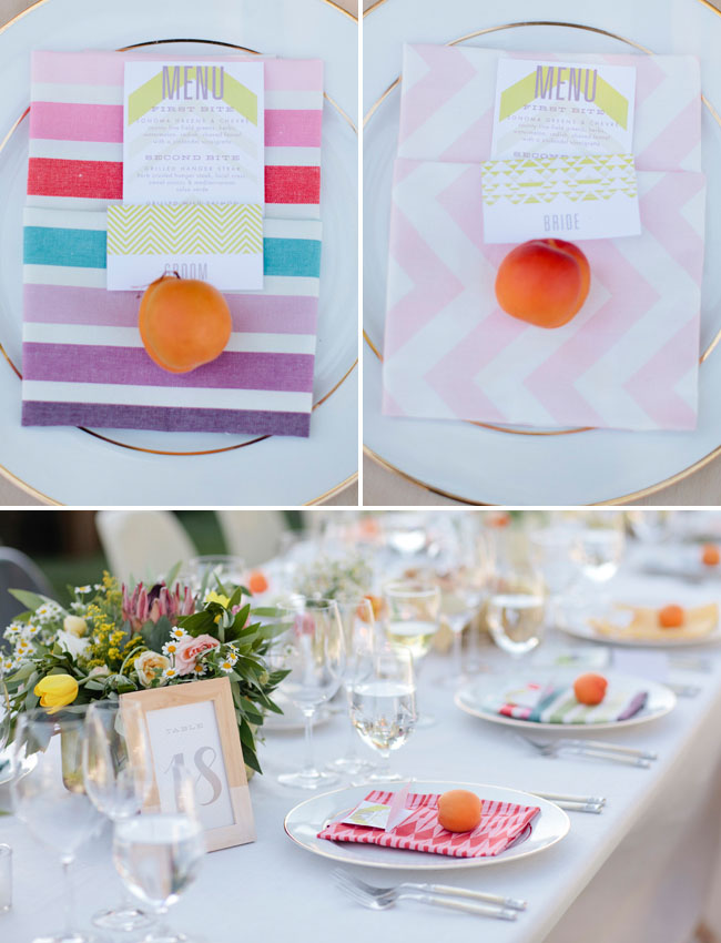 striped and pattern napkins