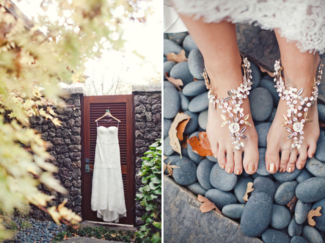 jeweled feet decor