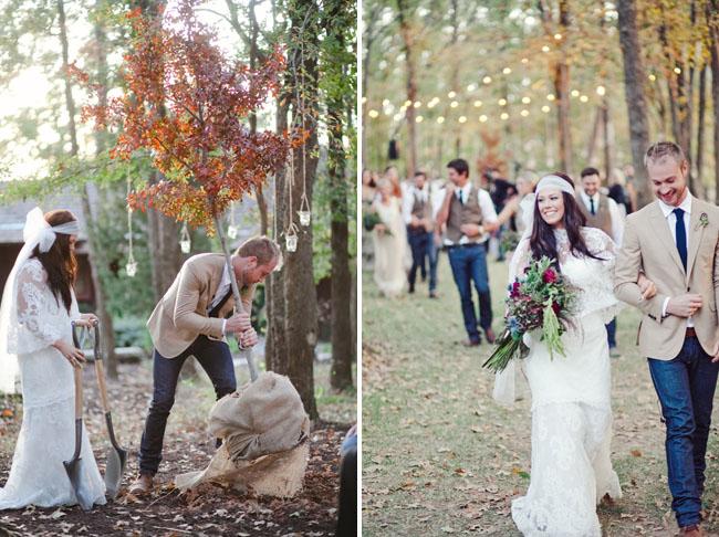 Boho Backyard Wedding : Backyard Bohemian Wedding Lindsey + Andrew  Green Wedding Shoes