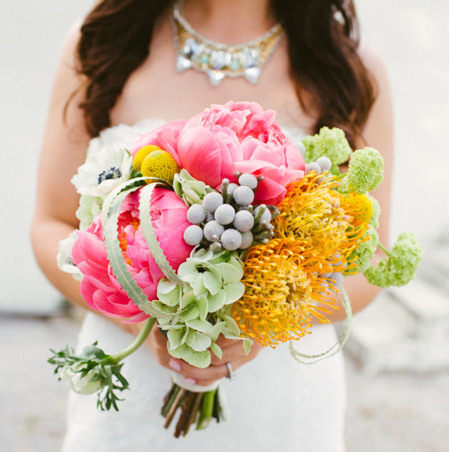 big pink peony bouquet